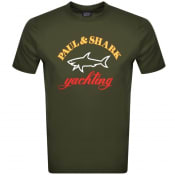 Product Image for Paul And Shark Logo T Shirt Green