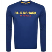 Product Image for Paul And Shark Long Sleeved Logo T Shirt Blue