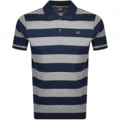 Product Image for Paul And Shark Stripe Polo T Shirt Grey
