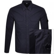 Product Image for CP Company Long Sleeved Shirt Navy