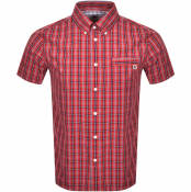 Product Image for Pretty Green Greaves Check Short Sleeved Shirt Red