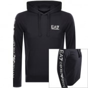 Product Image for EA7 Emporio Armani Logo Hoodie Navy