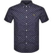 Product Image for Lyle And Scott Flag Print Short Sleeve Shirt Navy