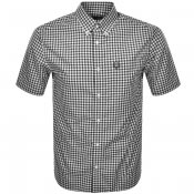 Product Image for Fred Perry Gingham Short Sleeved Shirt Black