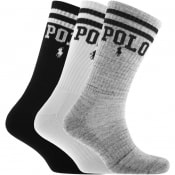Product Image for Ralph Lauren 3 Pack Classic Sport Socks White