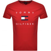 Product Image for Tommy Hilfiger Flag T Shirt Red