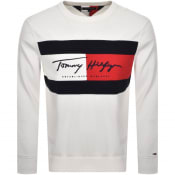 Product Image for Tommy Hilfiger Autograph Logo Sweatshirt White