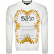 Product Image for Versace Jeans Couture Logo Sweatshirt White