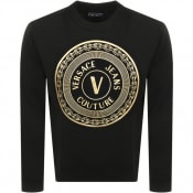 Product Image for Versace Jeans Couture Foil Logo Sweatshirt Black