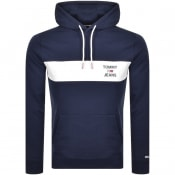 Product Image for Tommy Jeans Essential Logo Hoodie Navy
