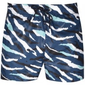 Product Image for BOSS Tigershark Camo Swim Shorts Blue