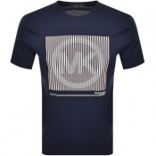 Product Image for Michael Kors Tonal Logo T Shirt Navy