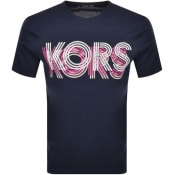 Product Image for Michael Kors Optical Logo T Shirt Navy