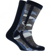 Product Image for Levis Camo 2 Pack Socks Blue
