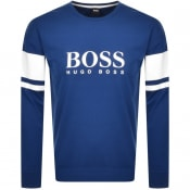 Product Image for BOSS Bodywear Authentic Sweatshirt Blue