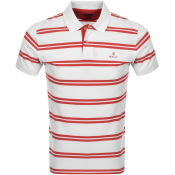 Product Image for Gant Contrast Stripe Polo T Shirt White