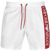 Product Image for Emporio Armani Logo Swim Shorts White