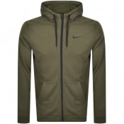 Product Image for Nike Training Full Zip Dri Fit Logo Hoodie Green