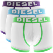 Product Image for Diesel Underwear Damien 3 Pack Boxer Shorts White