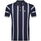 Product Image for Luke 1977 Strimead Striped Polo T Shirt Navy