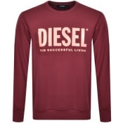 Product Image for Diesel Division Sweatshirt Burgundy
