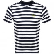 Product Image for Barbour Beacon Bow Stripe T Shirt Navy