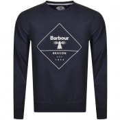 Product Image for Barbour Beacon Outline Crew Neck Sweatshirt Navy