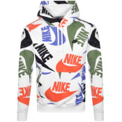 Product Image for Nike Heritage Swoosh Logo Hoodie White