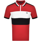 Product Image for Fred Perry Chest Panel Polo T Shirt Red