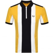 Product Image for Fred Perry Bold Stripe Polo T Shirt Yellow