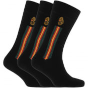 Product Image for Luke 1977 Three Pack Errol Crew Socks Black
