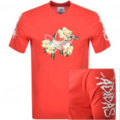 Product Image for adidas Originals Festivo Logo T Shirt Red