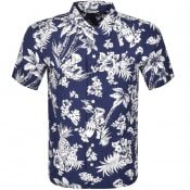 Product Image for Ralph Lauren Custom Fit Short Sleeve Shirt Navy