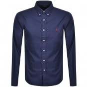 Product Image for Ralph Lauren Custom Long Sleeved Shirt Navy