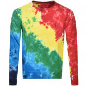 Product Image for Ralph Lauren Tie Dye Crew Neck Sweatshirt Red