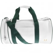 Product Image for Fred Perry Twin Tonal Barrel Bag White
