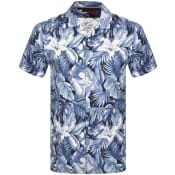 Product Image for Tommy Hilfiger Short Sleeved Hawaiian Shirt Blue
