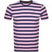 Product Image for Ralph Lauren Slim Fit Stripe T Shirt Pink