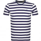 Product Image for Ralph Lauren Slim Fit Stripe T Shirt Navy