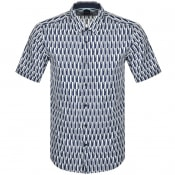 Product Image for BOSS Luka Short Sleeved Shirt Navy