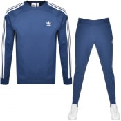 Product Image for adidas Originals 3 Stripes Tracksuit Blue