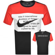 Product Image for Nike Crew Neck Swoosh Logo T Shirt Red