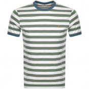 Product Image for Farah Vintage Belgrove Stripe T Shirt Green