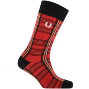 Product Image for Fred Perry Royal Stewart Tartan Socks Red