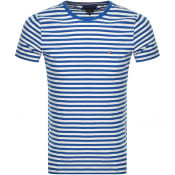 Product Image for Tommy Hilfiger Slim Fit Stripe T Shirt Blue
