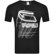 Product Image for G Star Raw Perspective Logo T Shirt Black