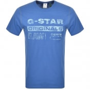 Product Image for G Star Raw Logo T Shirt Blue