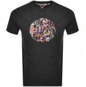 Product Image for Pretty Green Thornley Paisley Logo T Shirt Grey