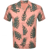 Product Image for Nudie Jeans Short Sleeved Arvid Leaf Shirt Pink