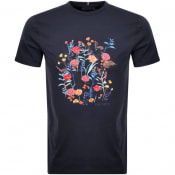 Product Image for Les Deux Crew Neck Fleur Dete T Shirt Navy